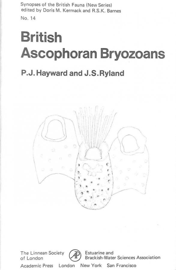 Image for British Ascophoran Bryozoans (Synopses of the British fauna)