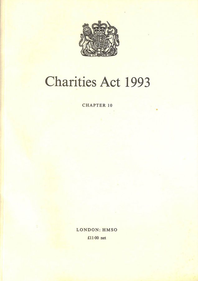 Image for Charities Act 1993