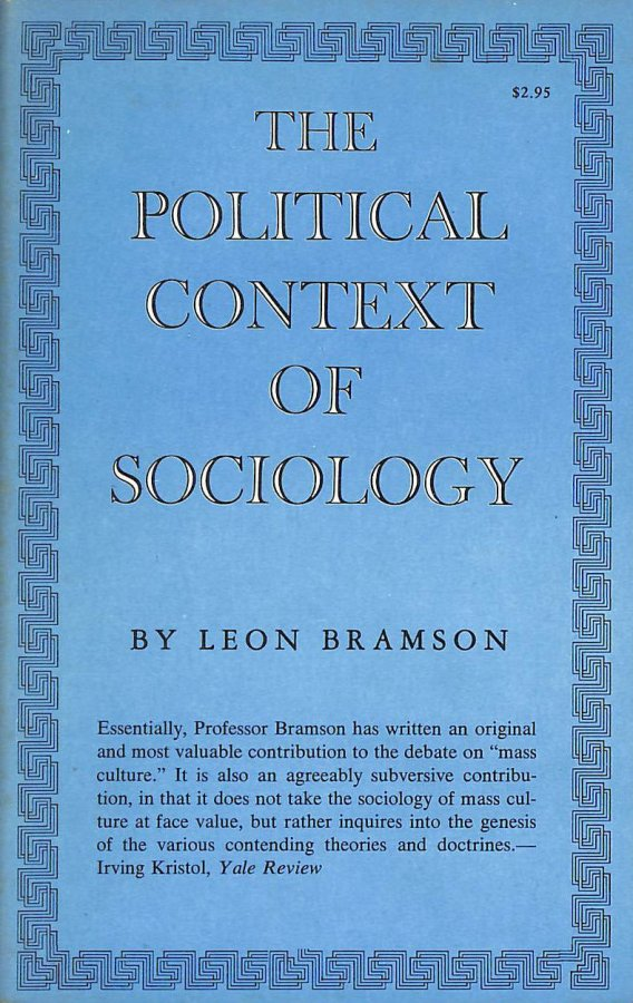Image for The Political Context of Sociology