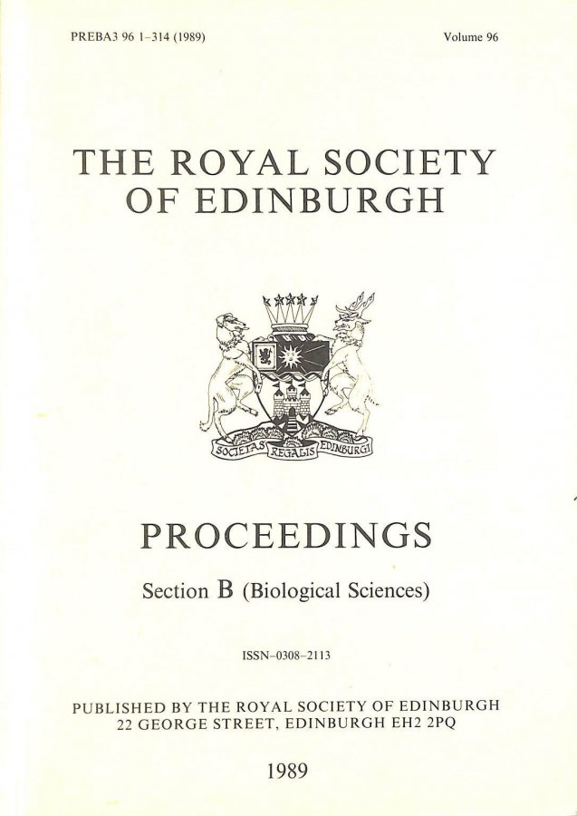 Image for Proceedings of the Royal Society of Edinburgh section B (Biological Sciences) Volume 96 (1989), Coastal Sand Dunes