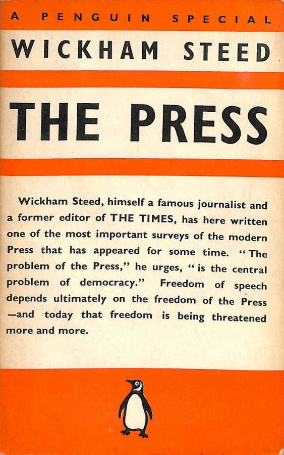 Image for The press / by Henry Wickham Steed
