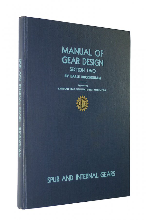 Image for Manual of Gear Design Section Two Spur and Internal Gears