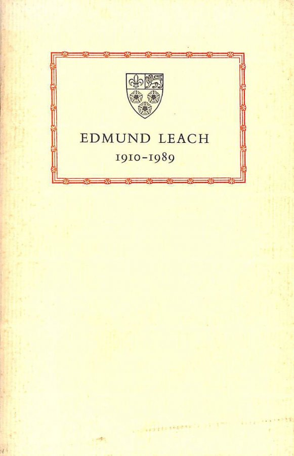 Image for Edmund Leach 1910-1989