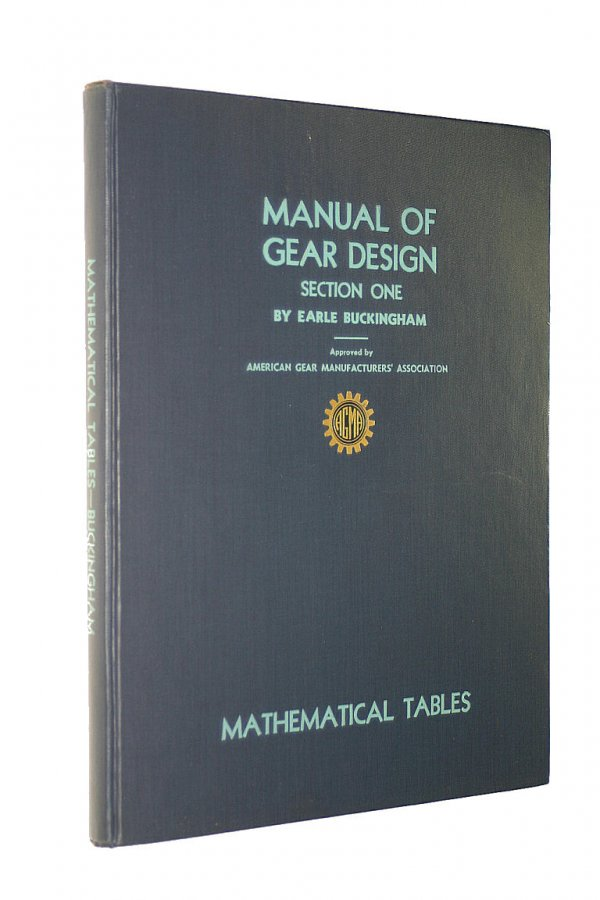 Image for Manual of Gear Design Section 1. Mathematical Tables