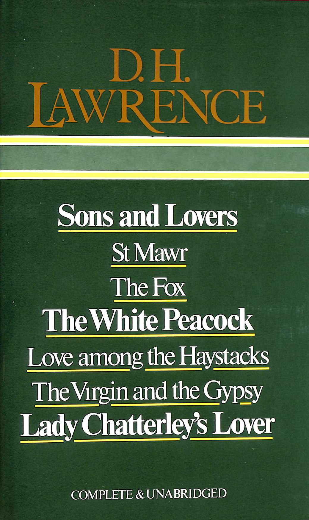 Image for D. H. Lawrence: Sons and Lovers / St. Mawr / The Fox / The White Peacock / Love Among the Haystacks / The Virgin and the Gypsy / Lady Chatterley's Lover