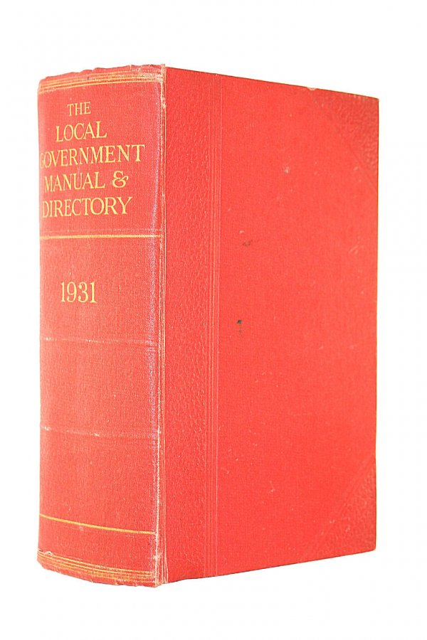 Image for The Local Government Manual and Directory for 1931