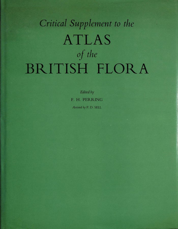 Image for Atlas of the British Flora: Critical Suppt