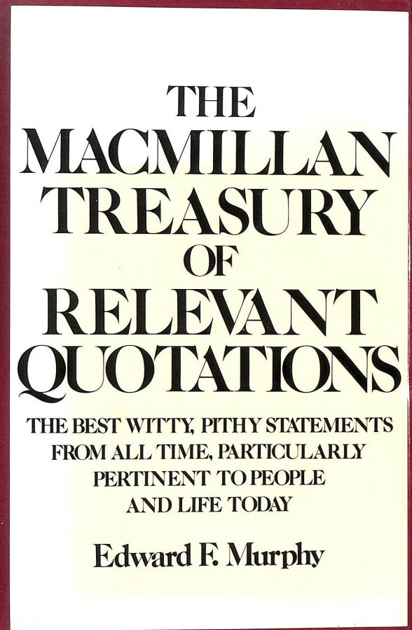Image for The Macmillan Treasury of Relevant Quotations