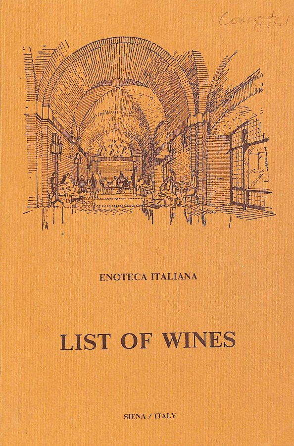 Image for Enoteca Italiana: The List of Italian DOC and DOCG Wines. 14th edition.
