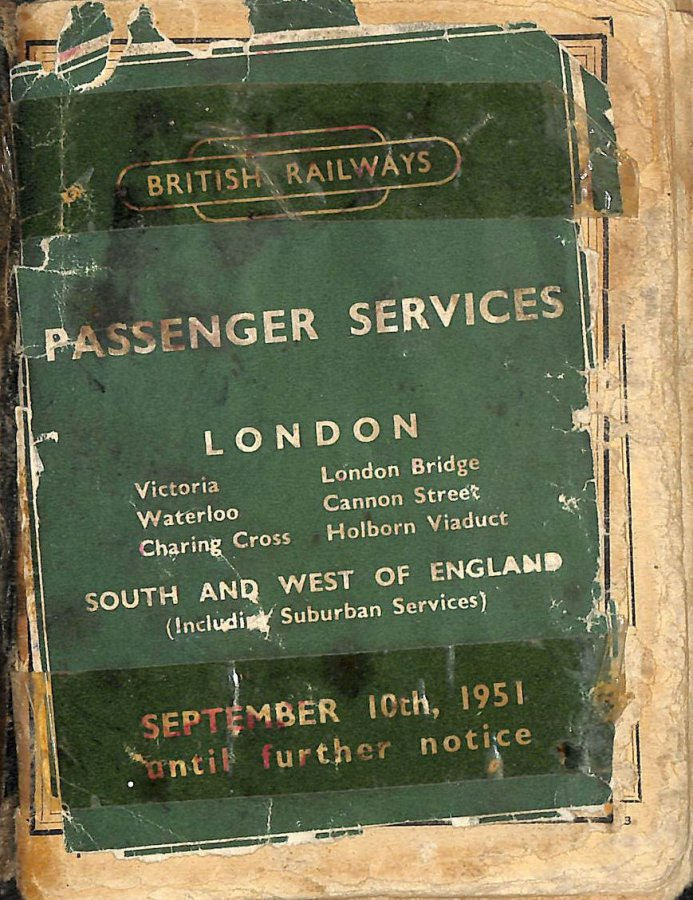 Image for Passenger Services. London, South and West of England September 10, 1951