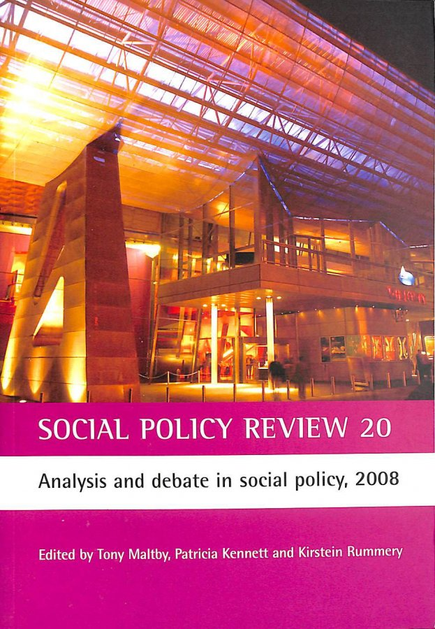 Image for Social Policy Review 2008: No. 20: Analysis and Debate in Social Policy