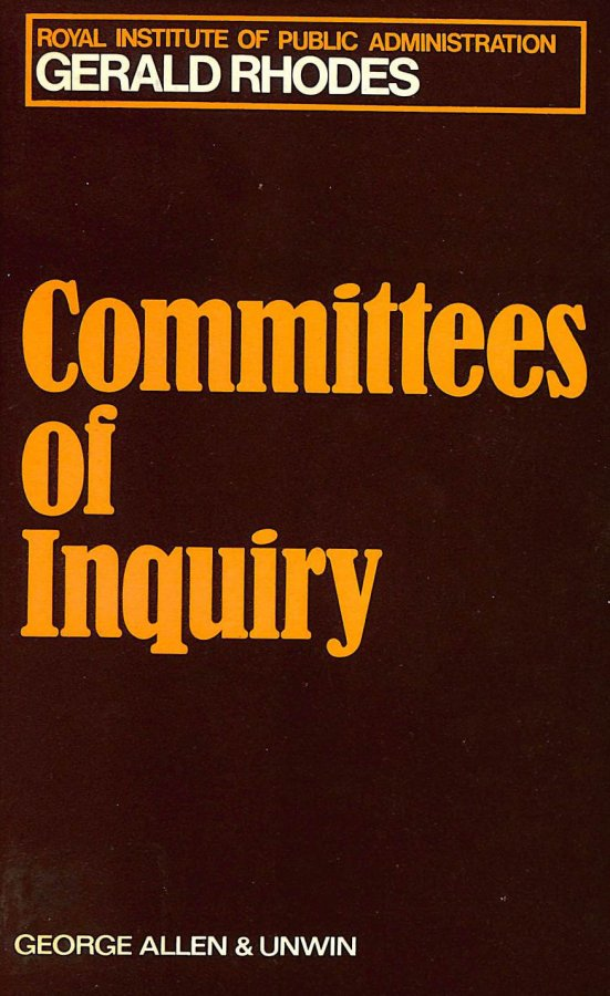 Image for Committees of Enquiry