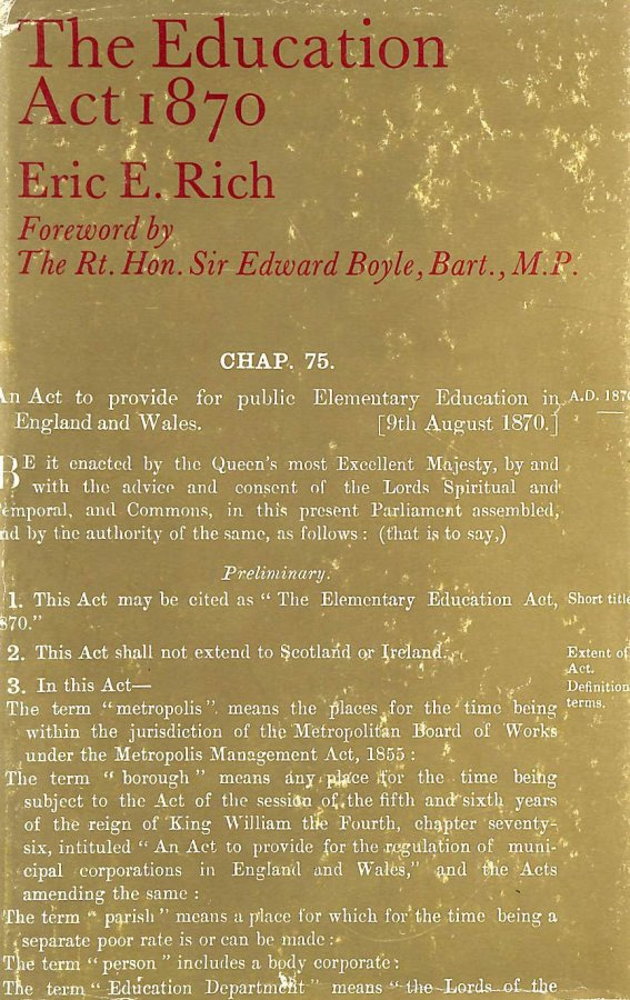 Image for Education Act, 1870