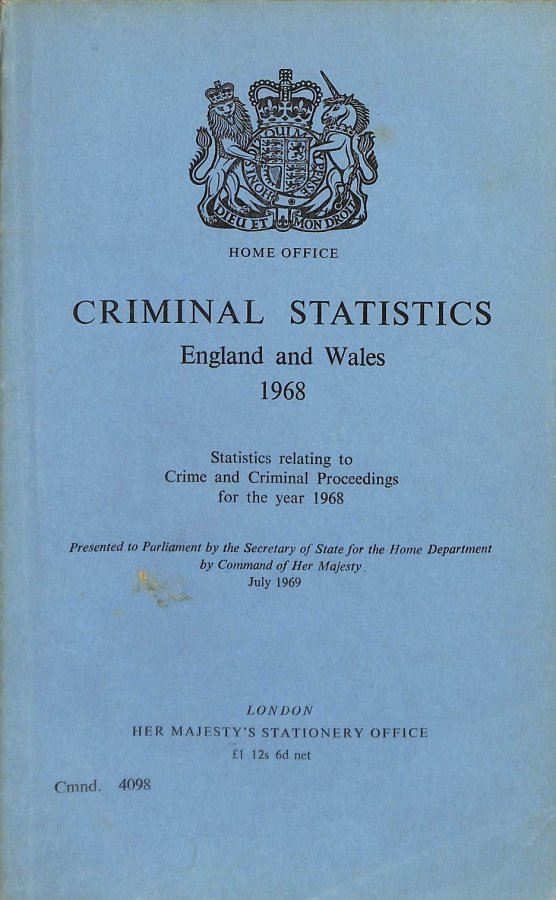 Image for Criminal Statistics, England and Wales: Statistics Relating to Crime and Criminal Proceedings