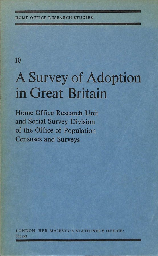 Image for Survey of Adoption in Great Britain (Research Studies)