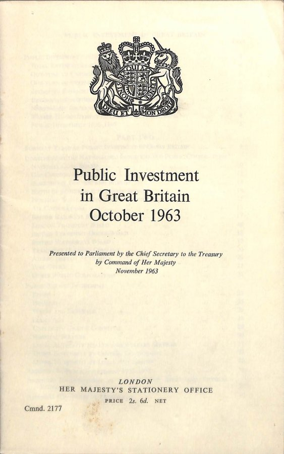 Image for Publisc Investment in Great Britain October 1963