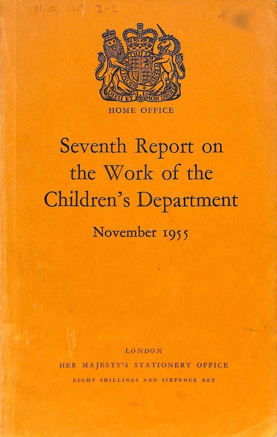 Image for Seventh Report on the Work of the Children's Department 1955