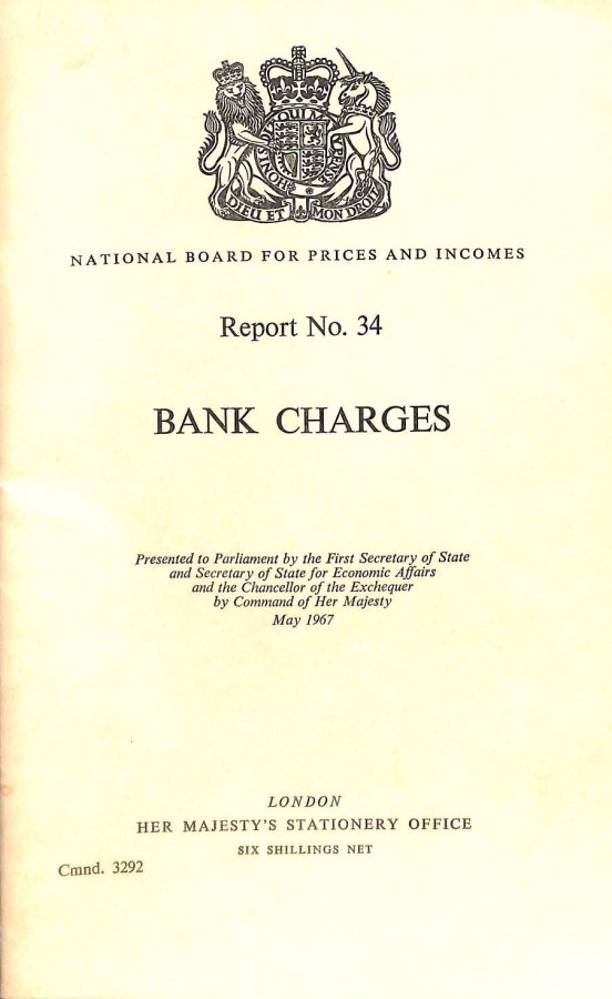 Image for Report No. 34 Bank Charges