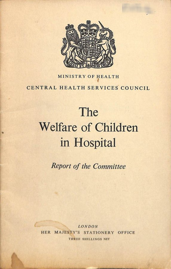 Image for The Welfare of Children in Hospital