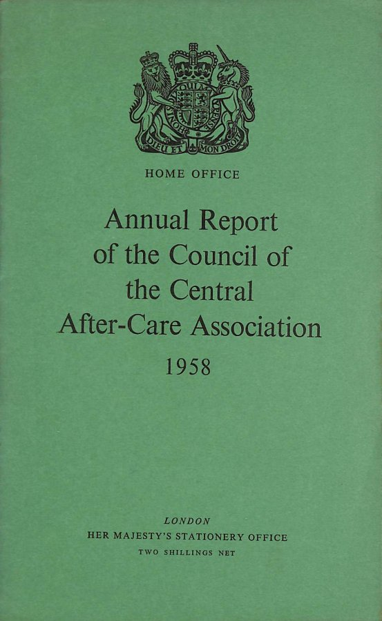 Image for Annual Report of the Council of the Central After-Care Association 1958