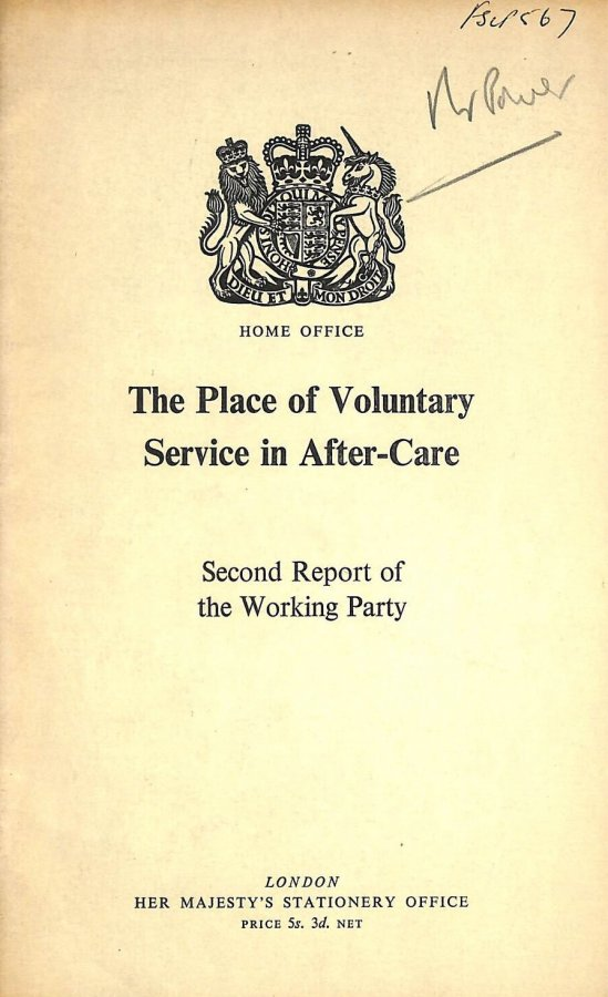 Image for The place of voluntary service in after-care
