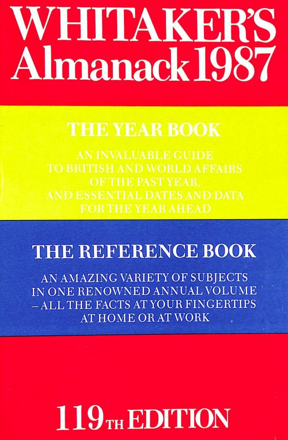 Image for Whitaker's Almanack 1987 (119th annual edition) Complete Edition