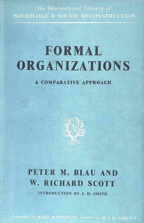 Image for Formal Organizations A Comparative Approach
