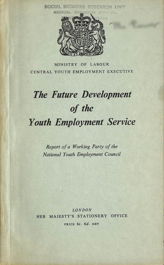 Image for The Future Development of the Youth Development Service