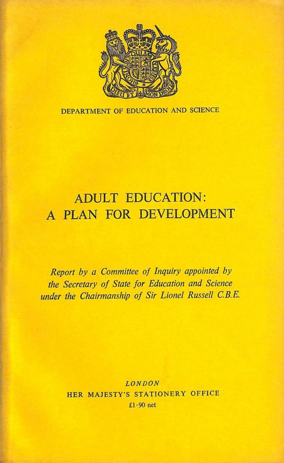 Image for Adult Education: A Plan for Development