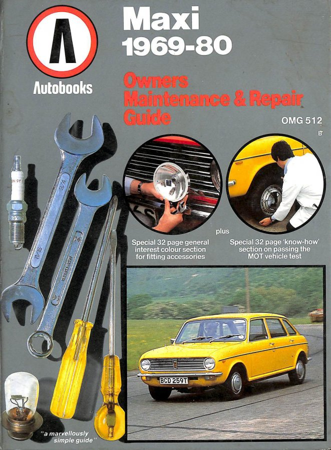 Image for Maxi 1969-80 Autobook (The autobook series of workshop manuals)