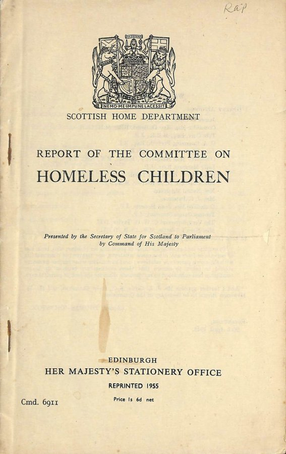 Image for Report of the Committee on Homeless Children
