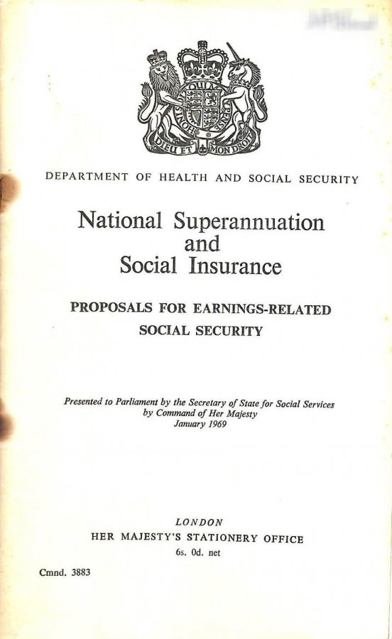 Image for National Superannuation and Social Insurance: proposals for earnings-related social security (Command 3883)