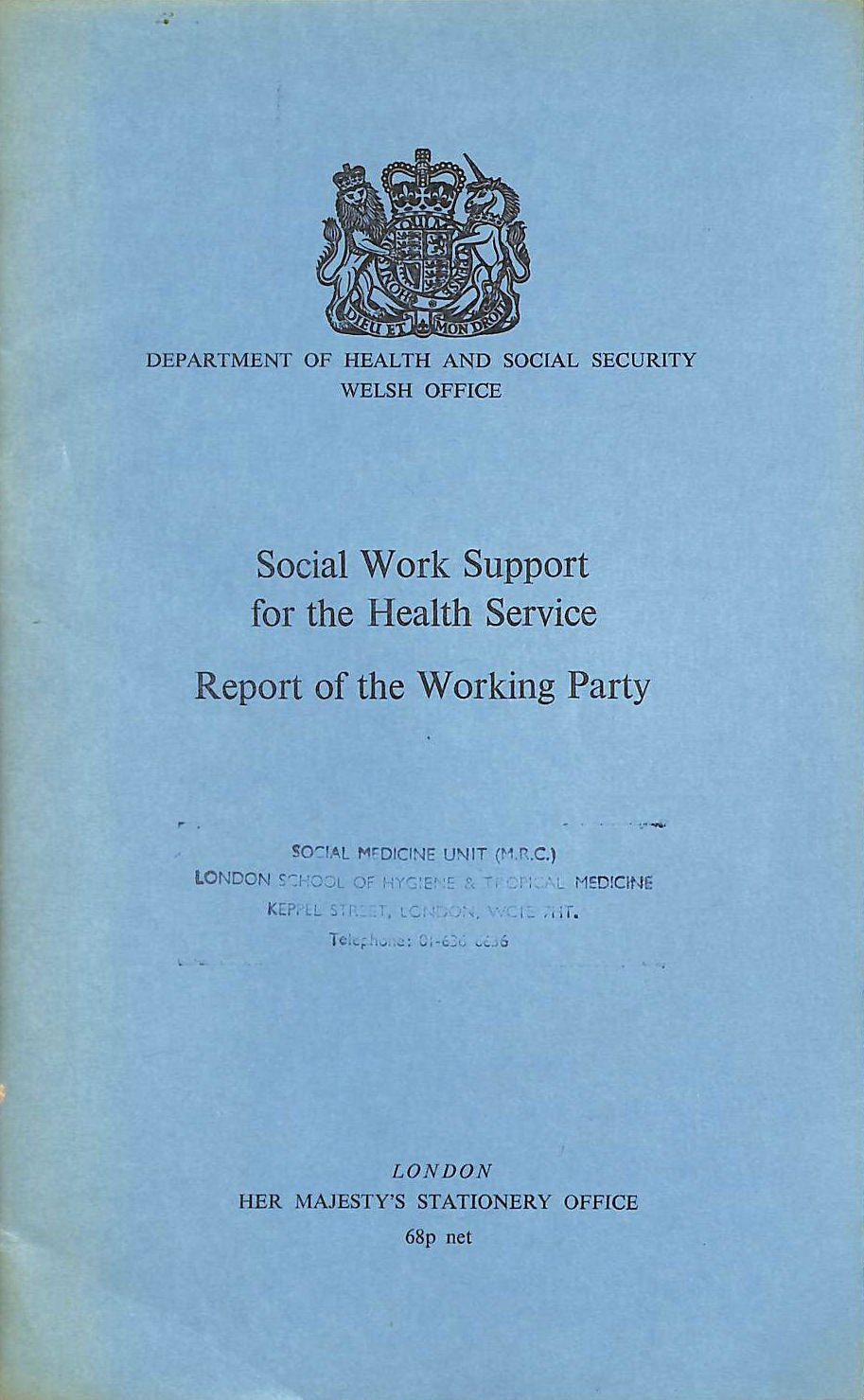 Image for Social Work Support for the Health Service