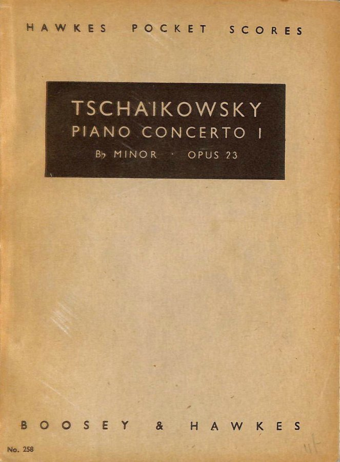 Image for Tschaikowsky Piano Concerto I. B Flat Minor. Opus 23. Hawkes Pocket Scores