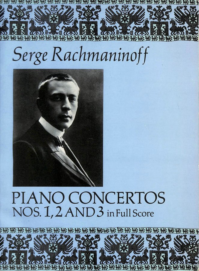 Image for Rachmaninoff Sergei Piano Concertos Nos 1 2 And 3 In Full Score Bk (Piano Concertos, 2 and 3)