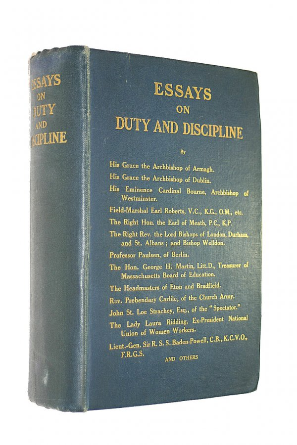 Image for Essays on duty and discipline. A series of papers on the training of children in relation to social and national welfare