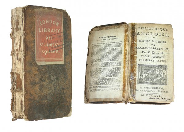 Image for Bibliotheque Angloise, Tome Second, premier Partie and Seconde Partie
