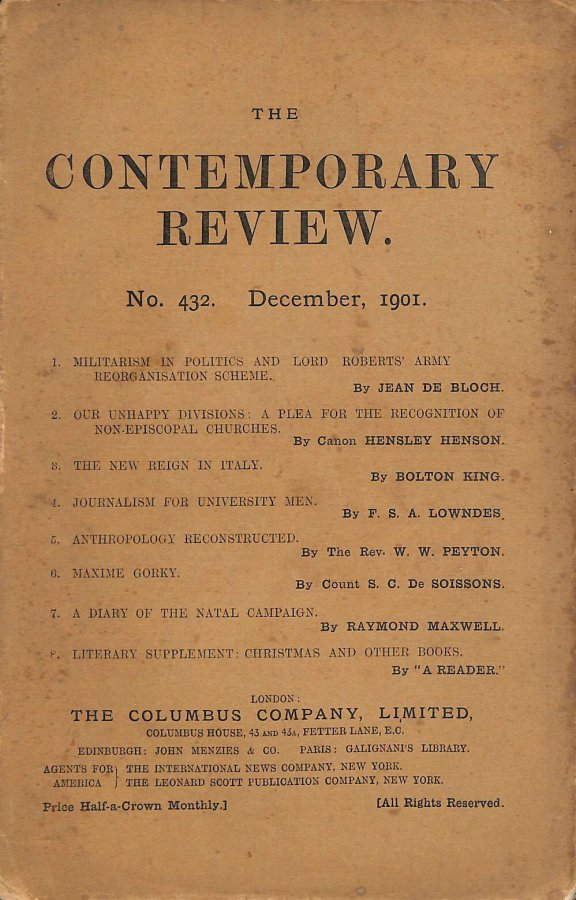 Image for The Contemporary Review No. 432 December 1901