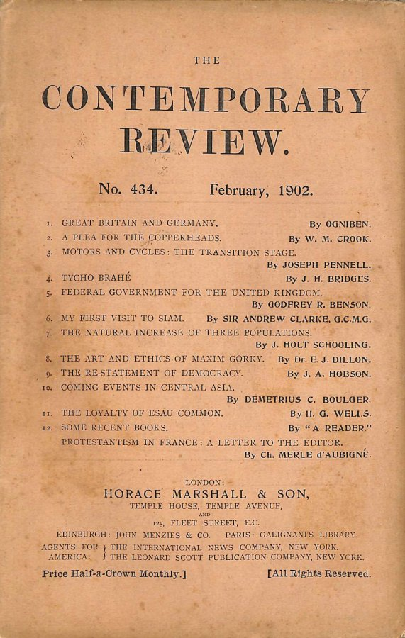 Image for The Contemporary Review No. 434 February 1902