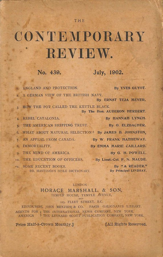 Image for The Contemporary Review No. 439 July 1902