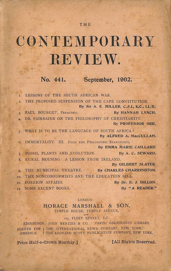 Image for The Contemporary Review No. 441 September 1902