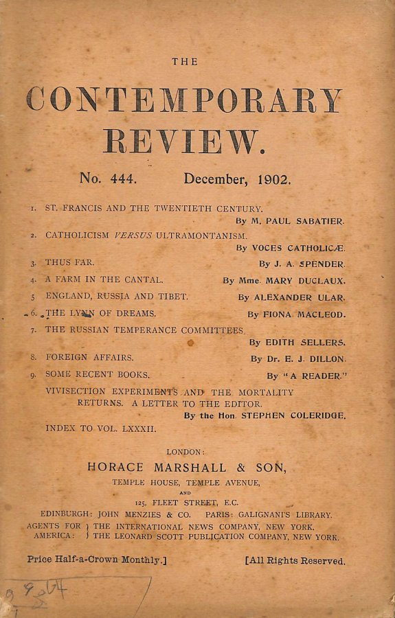 Image for The Contemporary Review No. 444 December 1902