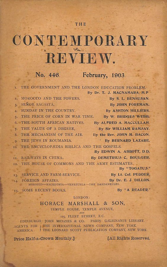 Image for The Contemporary Review No. 446 February 1903