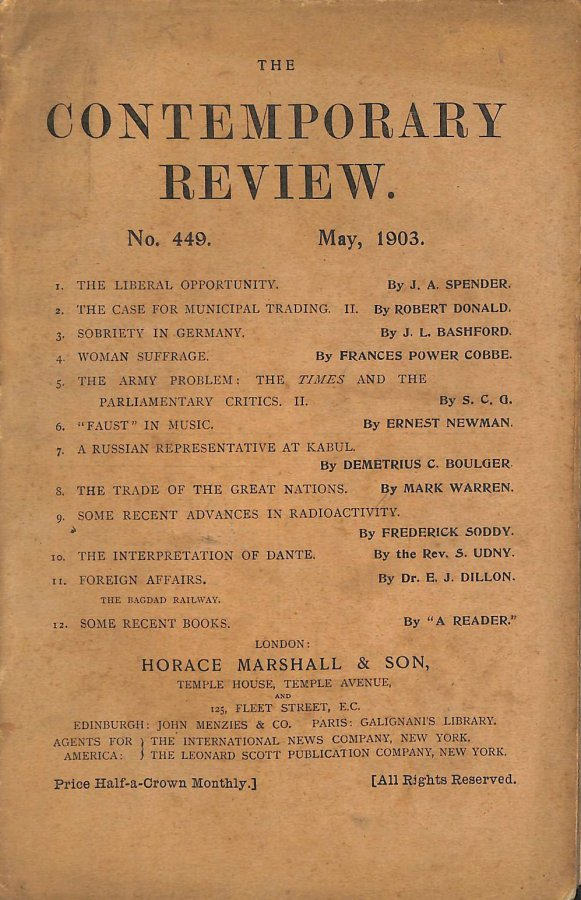 Image for The Contemporary Review No. 449 May 1903