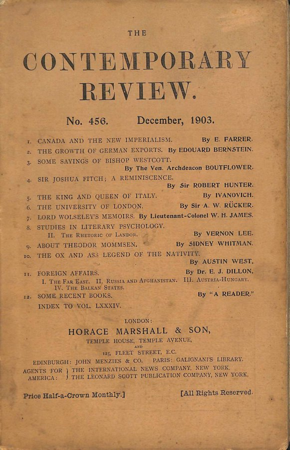 Image for The Contemporary Review No. 456 December 1903
