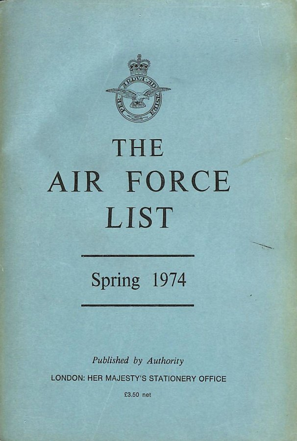 Image for Air Foirce List Spring 1974
