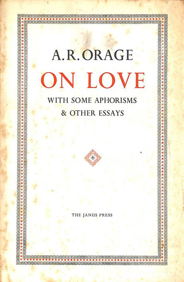 Image for On Love with Some Aphorisms & Other Essays