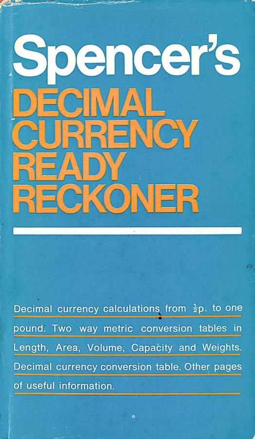 Image for Decimal Currency Ready Reckoner