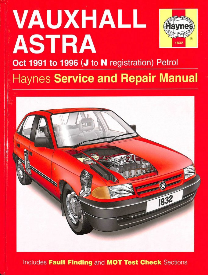Image for Vauxhall Astra Oct 1991 to 1996