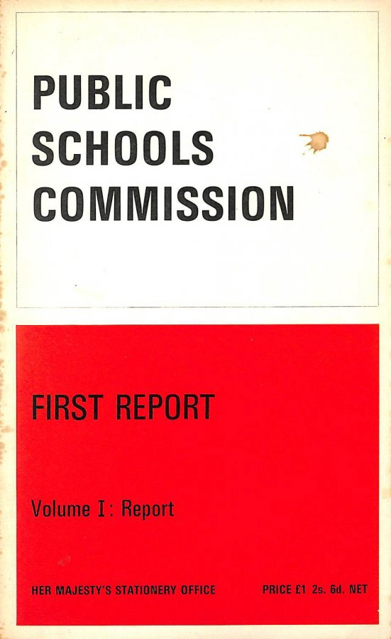 Image for The public schools commission: First report Vol I : Report